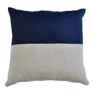 "Claire Throw Pillow Small Indigo - 22"" x 8"" x 22"" For Sale"
