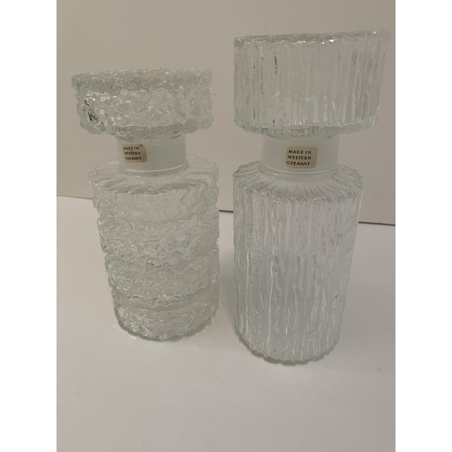 Glass Brutalist Glass Decanters - a Pair For Sale - Image 7 of 11