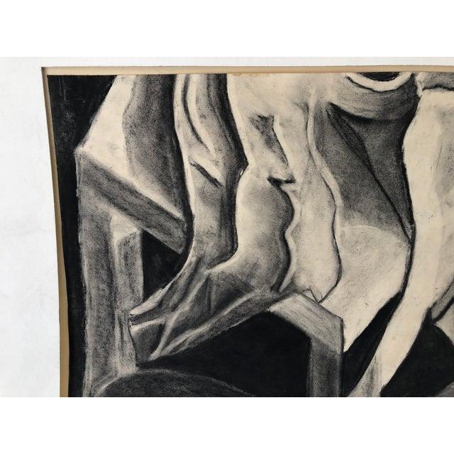Monochrome Drawing Still Life 22x14 Signed, unframed