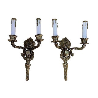 Gustavian Style Torch Sconces - A Pair