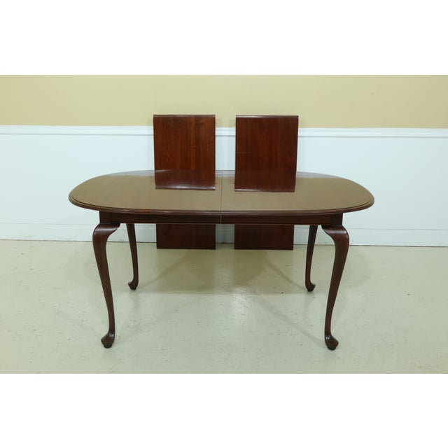 Queen Anne Knob Creek by Ethan Allen Cherry Dining Room Set For Sale - Image 3 of 13