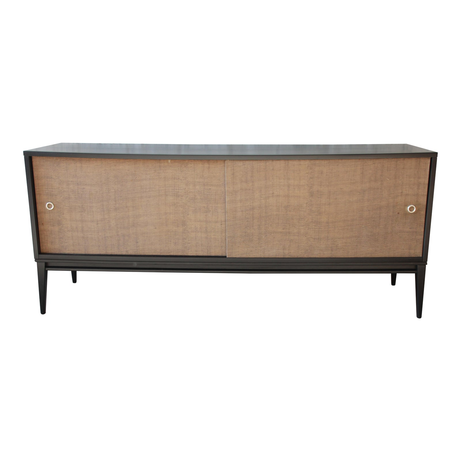 Paul Mccobb Planner Group Mid Century Modern Ebonized Low Credenza -