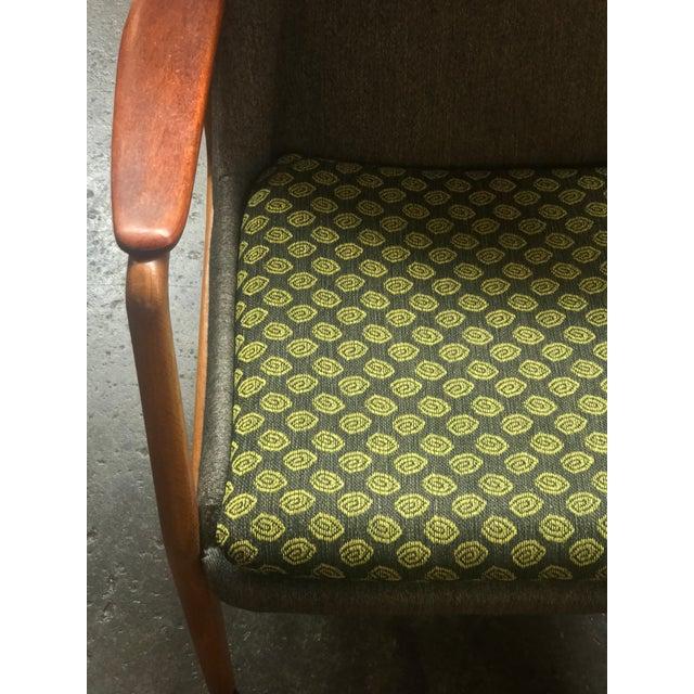Danish Modern Bender Madsen Upholstered Teak High Boy Lounge Chair For Sale - Image 3 of 5
