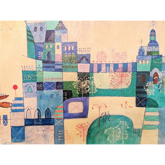 Heshi Yu Abstract Village Naive Chinese Modernist Oil Painting For Sale In Miami - Image 6 of 9