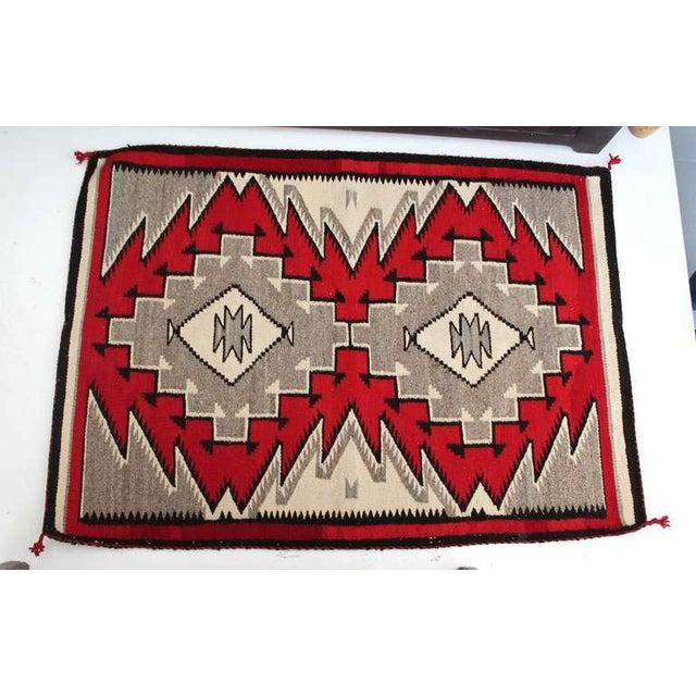 Navajo Indian Ganado Woven Saddle Blanket - Image 2 of 4