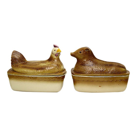Mid-Century French Stoneware Bakers For Sale