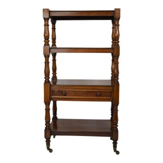 19th-Century English Mahogany Etagere W/Drawer For Sale