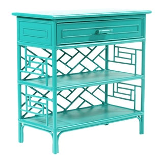 Chippendale End Table - Turquoise For Sale