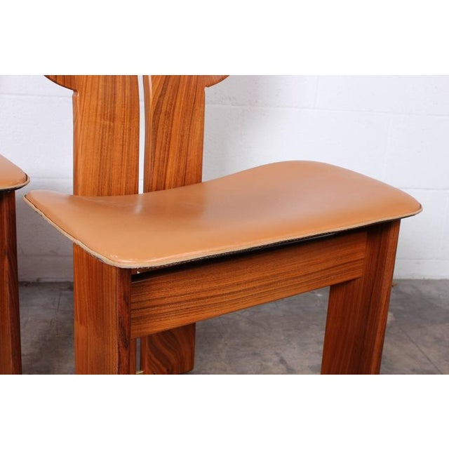 Brown Four Africa Chairs by Afra & Tobia Scarpa For Sale - Image 8 of 10