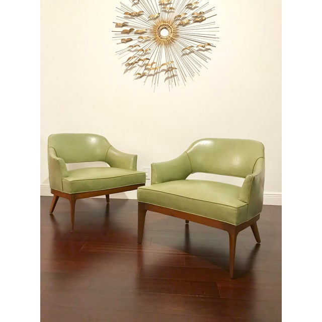 Sculpting Harvey Probber Mid Century Modern Low Club Chairs or Lounge Chairs - a Pair For Sale - Image 7 of 9