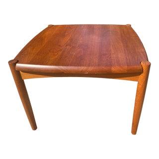 1960's Mid Century Modern Bramin Teak Side Table For Sale