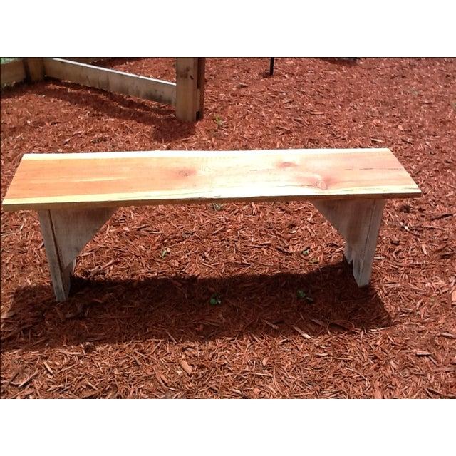 Rustic Red Cedar Bench - Image 4 of 5