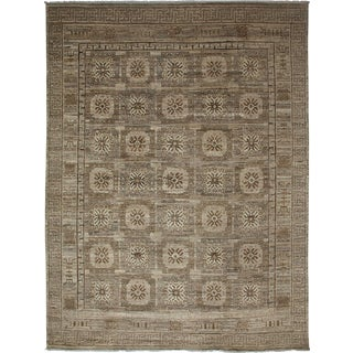 """Gray Khotan Hand-Knotted Rug - 7'5"""" X 9'9"""" For Sale"""