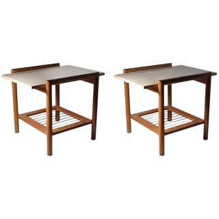 Vintage End Tables/ Nightstands in Manner of Robsjohn-Gibbings For Sale