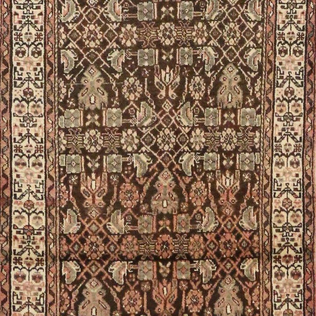 Antique Persian Malayer Carpet Runner with Traditional Modern Style For Sale In Dallas - Image 6 of 9