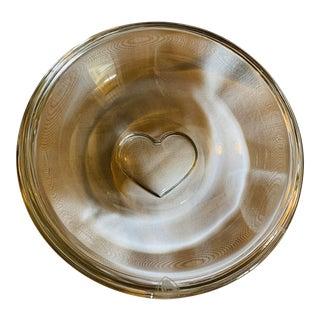 Orrefors Crystal Sweetie Bowl Clear Heart Designed by Marti Rytkonen For Sale