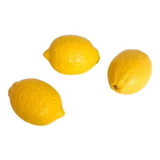 Lemon Marble Stone Fruit - Set of 3 For Sale