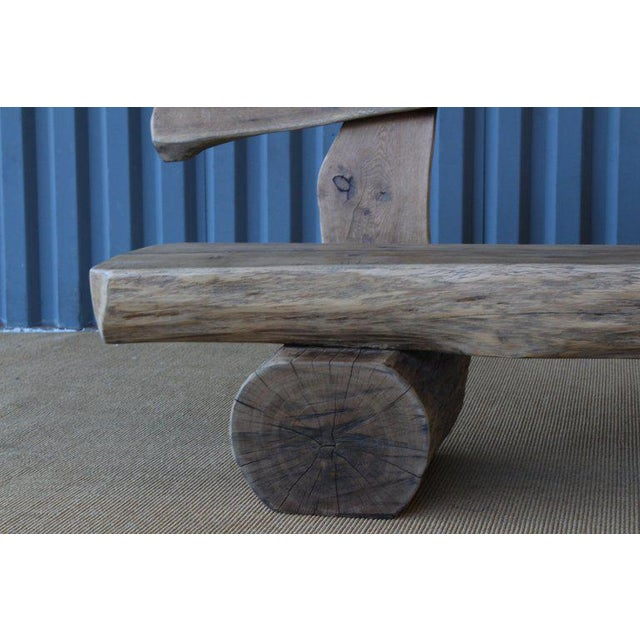Pair of Oak Benches, France, 1960s. Sold Individually. For Sale In Los Angeles - Image 6 of 12