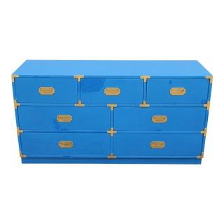 1950s Mid Century Modern Bernhardt Campaign Dresser For Sale