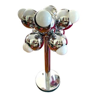 Mid-Century Modern Robert Sonneman Chrome Atomic Space Age Lamp For Sale