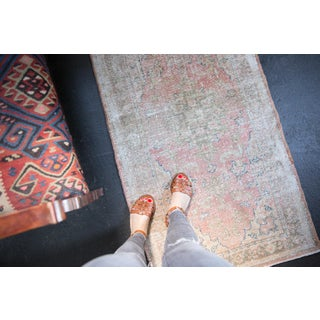 "Vintage Distressed Oushak Rug Runner - 2'8"" X 5' Preview"