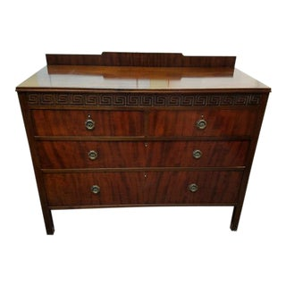 Wonderful Mahogany Chest of Drawers w/ Greek Key Carving c.1920