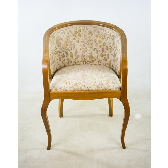 Art Nouveau Parlor Furniture - Set of 5 For Sale - Image 5 of 11
