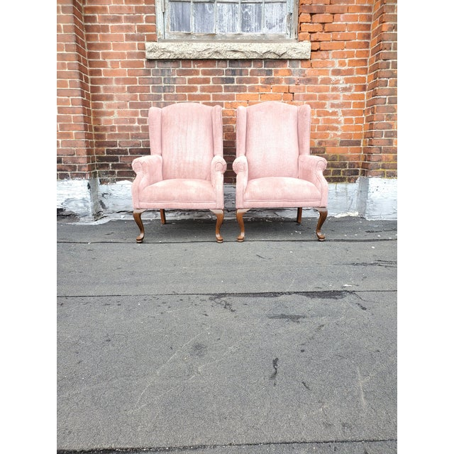 Vintage Blush Pink Velvet Armchairs - a Pair For Sale - Image 10 of 12