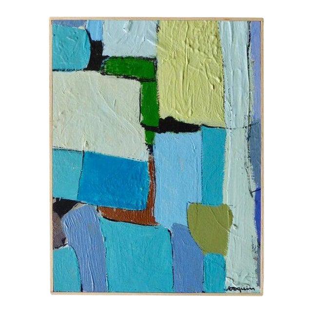 """""""Carrés Et Couch De Couleur"""" an Original Contemporary Painting by American Artist Kenneth Joaquin For Sale"""