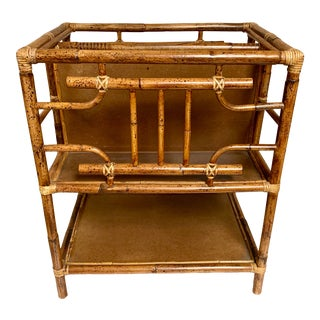 Maitland-Smith Bamboo Magazine Stand Table For Sale