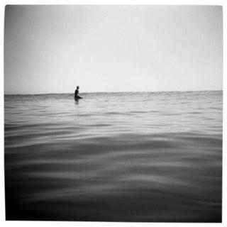 """Sitting Outside"" Black & White Photograph"