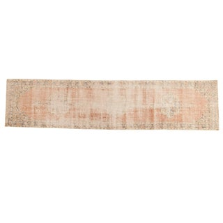 "Vintage Distressed Sparta Rug Runner - 2'7"" X 11'2"" For Sale"