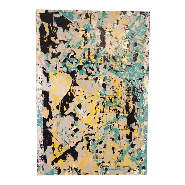 Untitled Abstract Acrylic Painting For Sale