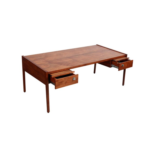 Mid-Century Modern Rare Architect's Desk by Jens Risom For Sale - Image 3 of 13