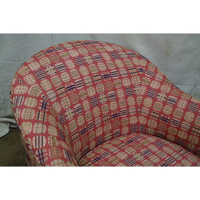 Newerly Upholstered Barrel Back Lounge Chair For Sale - Image 5 of 10