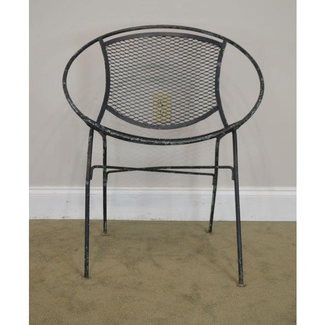 "Salterini Vintage 1960's Wrought Iron ""Radar"" Patio Lounge Chair For Sale - Image 12 of 13"