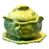 Image of 1950s Cabbage Leaf Bowl/Tureen For Sale