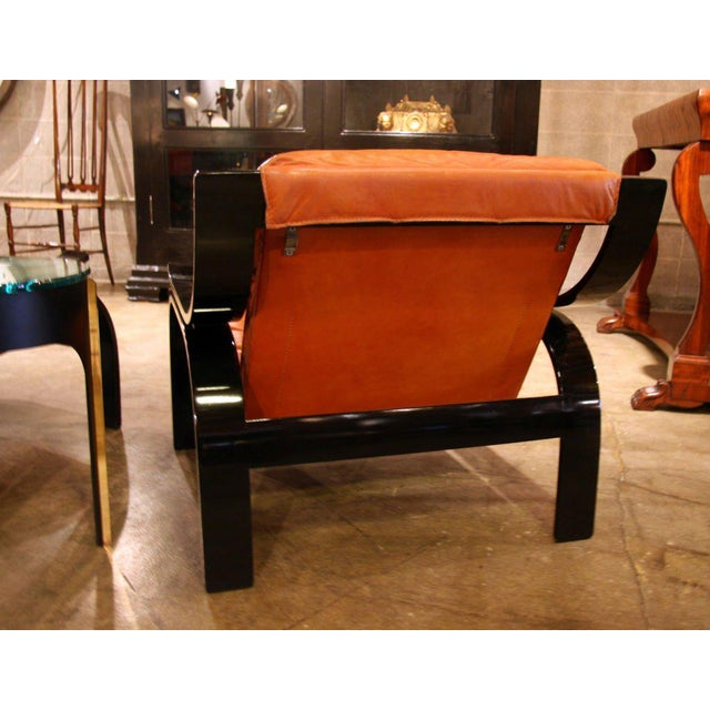 Pair of Marco Zanuso Armchairs in Leather for Arflex For Sale - Image 5 of 7