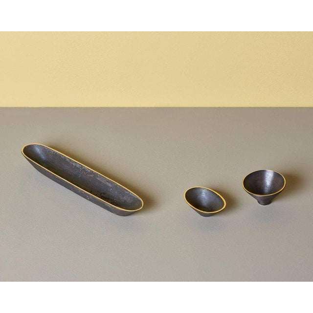 Set of Three Bowls by Carl Auböck For Sale - Image 6 of 6