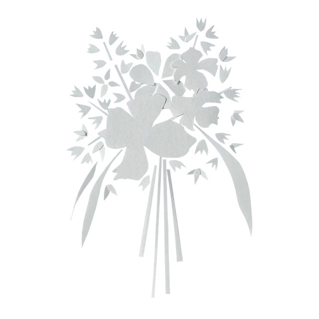 2010s Abstract Antique White Paper Bouquet Artwork For Sale