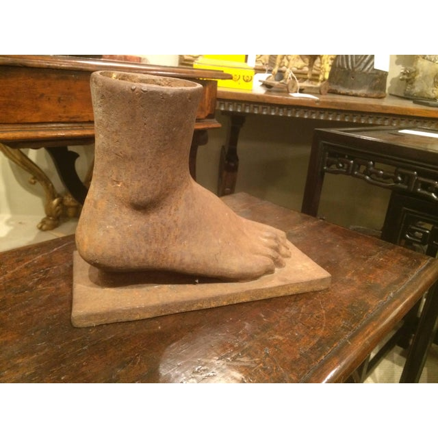 Mid 20th Century American Folk Art Cast Iron Foot For Sale - Image 5 of 7