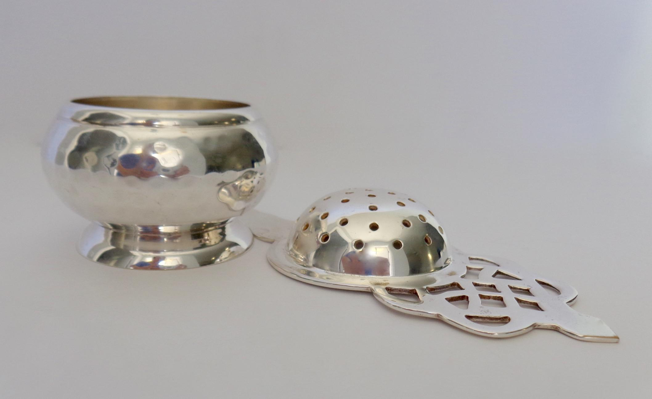 Silver Plate Tea Strainer and Cup Holder - 2 Pieces - Image 2 of 12  sc 1 st  Chairish & Silver Plate Tea Strainer and Cup Holder - 2 Pieces | Chairish