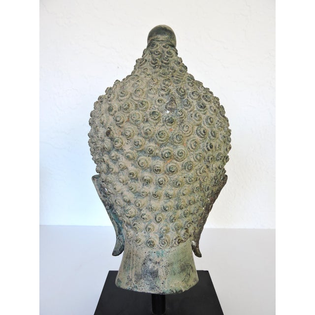 Early 20th Century Mounted Bronze Representation of Buddha (Sukhothai), Thailand For Sale - Image 5 of 7