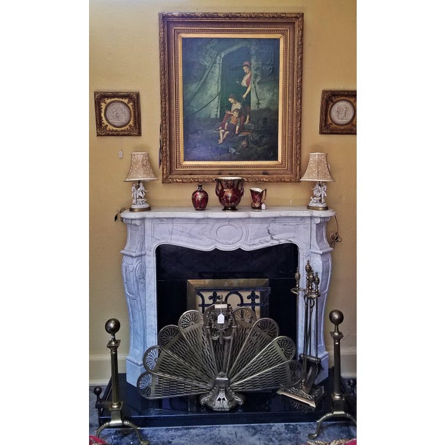 20c Irish White Marble Fireplace - Complete For Sale In Dallas - Image 6 of 11