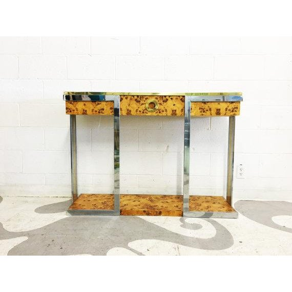 Willy Rizzo Burl Wood Console - Image 6 of 6