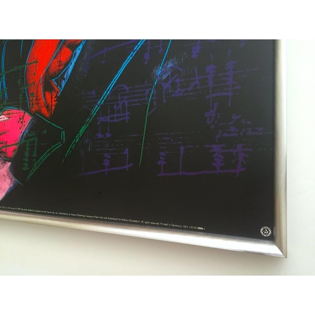 "Andy Warhol Foundation Vintage 1992 Lithograph Print Framed Pop Art Poster "" Beethoven "" 1987 For Sale - Image 10 of 13"
