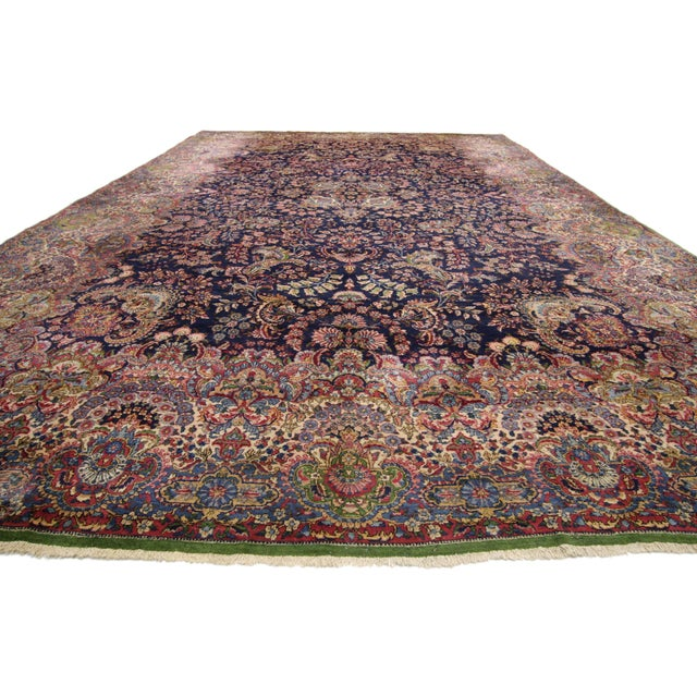 """Islamic Antique Persian Kirman Palace Size Rug - 11' X 17'4"""" For Sale - Image 3 of 10"""