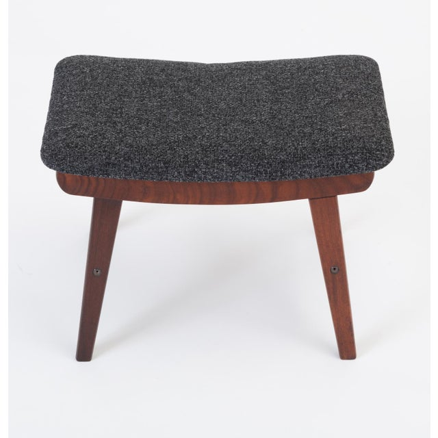 Mid-Century Modern Scandinavian Modern Teak Ottoman With Upholstered Cushion For Sale - Image 3 of 13