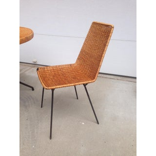 Vintage Mid-Century Wicker & Iron Dining Set Preview