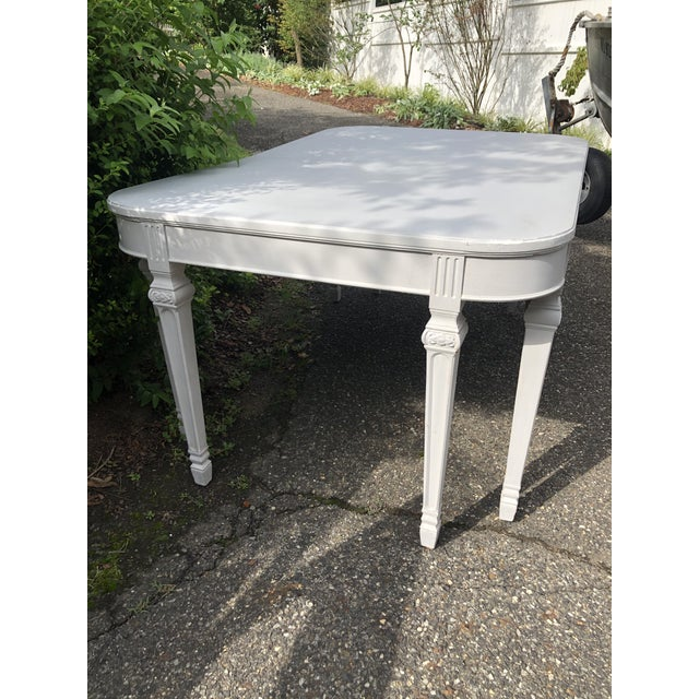 Beautiful 8 legs on this table make it a stand out! Gustavian style Swedish table, estimated to be early 20th c. It has a...